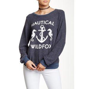 Wildfox Nautical fleece pullover